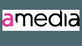 Horisontal logo til amedia.