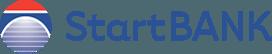 Logoen til StartBANK med gjennomsiktig bakgrunn.